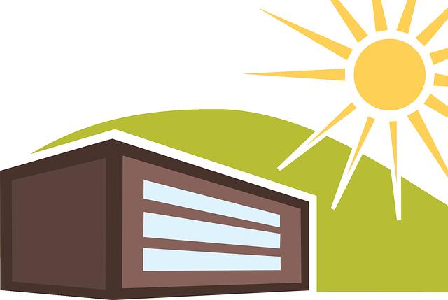 slunce, kopec, dům