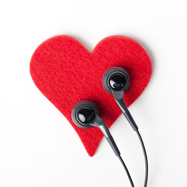 srdce a sluchátka